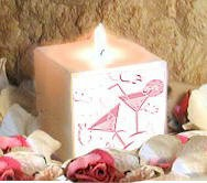 Keep Sake Boxed Wedding Candle with your own message sent direct order online.